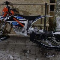 KTM Freeride electric snowbike_electric snowmobile_snowbike kit for KTM Freeride_1