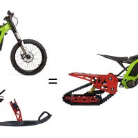 Sur-ron_snowbike_snowbikekit on surron_electric snowbike surron_1
