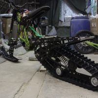 Surron snowbike_sur ron snowbike kit_Surron snowmobile kit_Surron tracked chassis_Суррон сноубайк_4