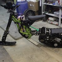 Surron snowbike_sur ron snowbike kit_Surron snowmobile kit_Surron tracked chassis_Суррон сноубайк_5