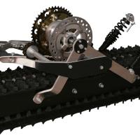 Snowbike kit_snowmobile kit_conversion kit for Dirtbike_tracked chassis_monotrack_sniejik_2
